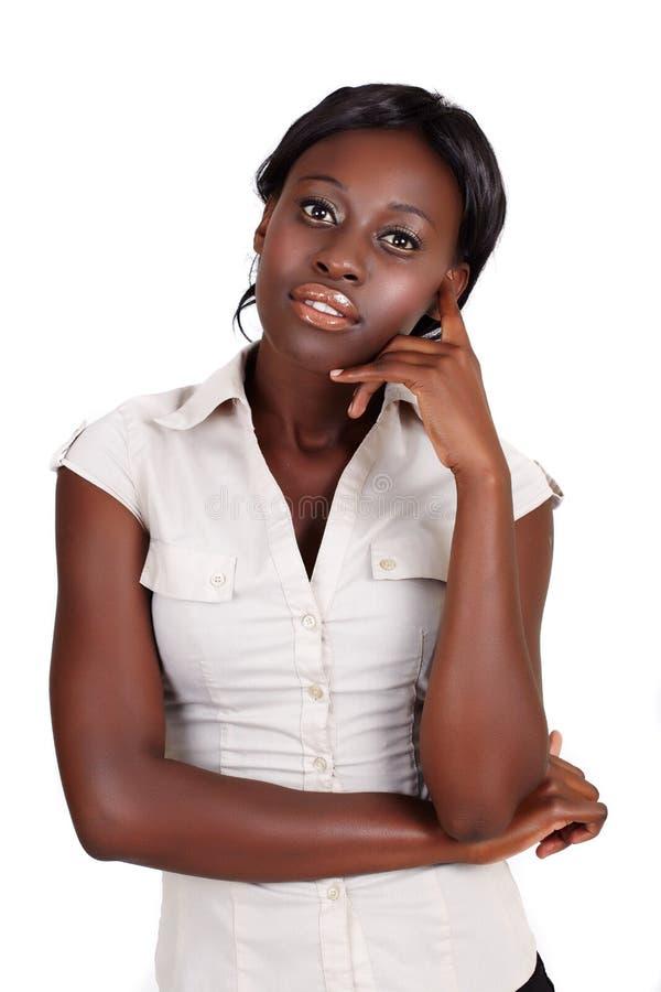 Donna di affari africana di Amercian immagine stock