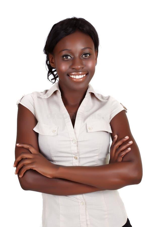 Donna di affari africana di Amrican fotografia stock