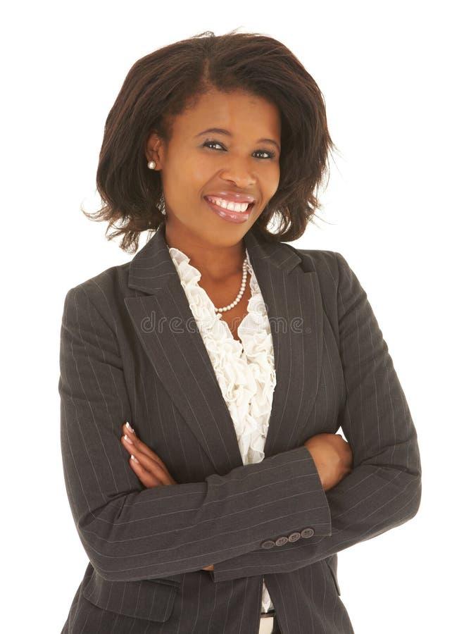Donna di affari africana sexy fotografia stock