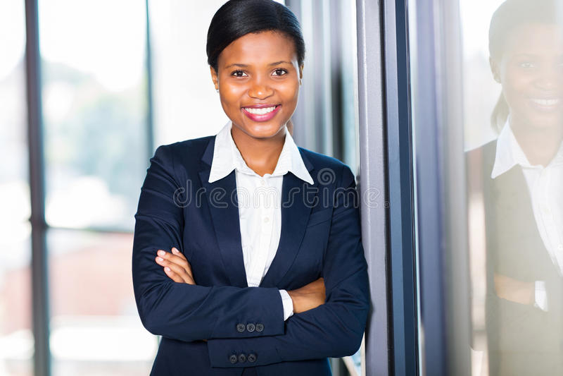 Donna di affari afroamericana fotografie stock libere da diritti