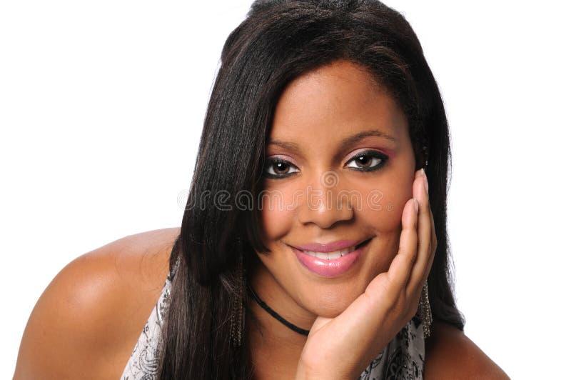 Donna di affari afroamericana Smiling fotografia stock libera da diritti