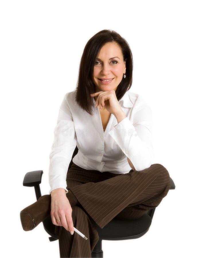 Donna di affari all'ufficio immagine stock