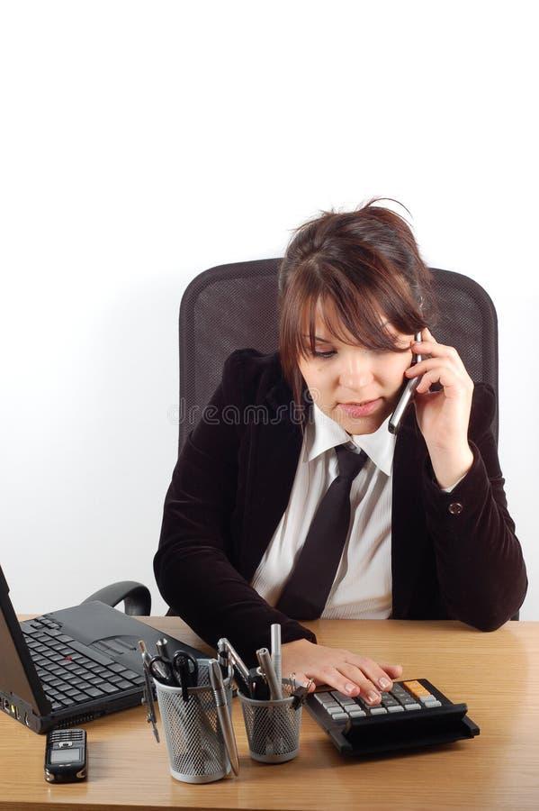 Donna di affari allo scrittorio #19 fotografie stock