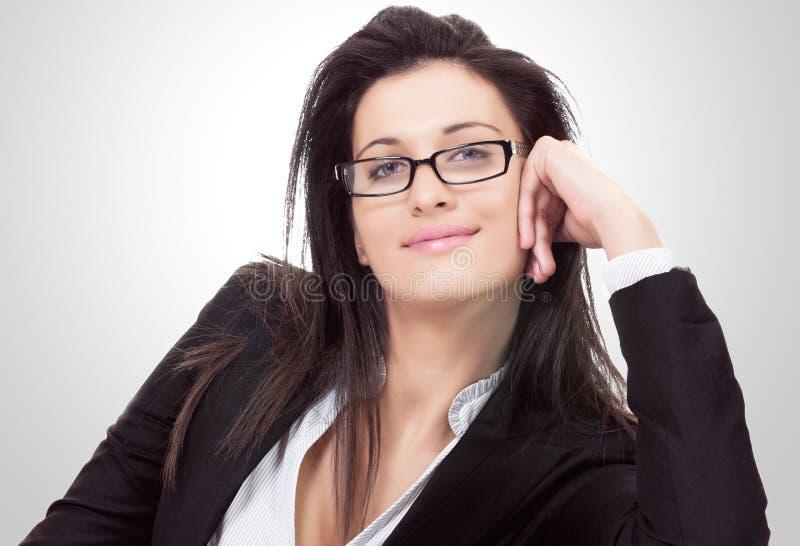Donna di affari amichevole fotografia stock libera da diritti