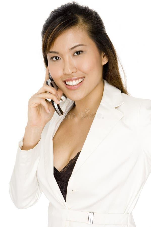 Donna di affari asiatica fotografia stock libera da diritti