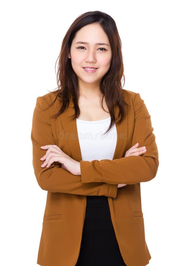 Download Donna di affari asiatica fotografia stock. Immagine di felicità - 55356680