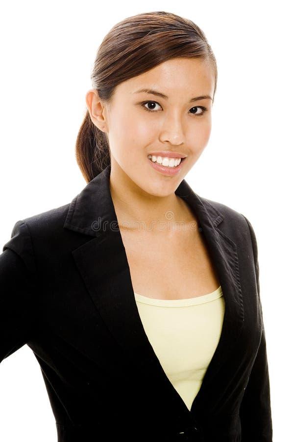Donna di affari asiatica immagine stock