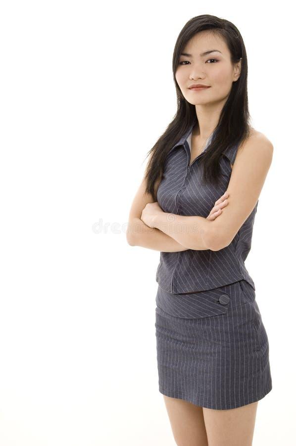 Donna di affari asiatica 6 fotografie stock