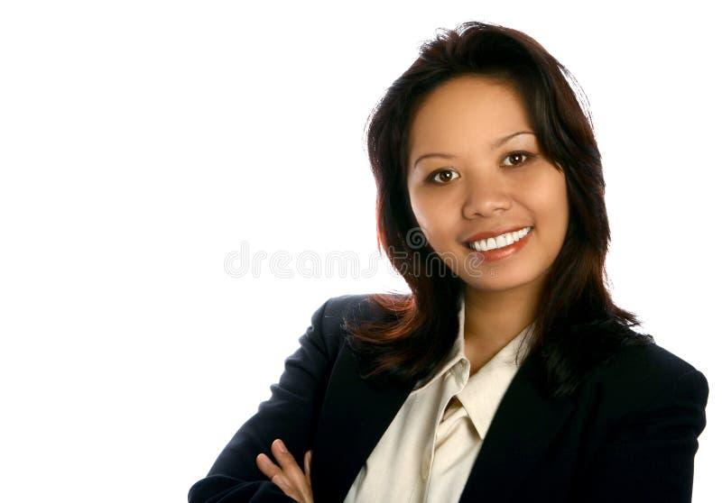 Donna di affari asiatica amichevole fotografie stock libere da diritti