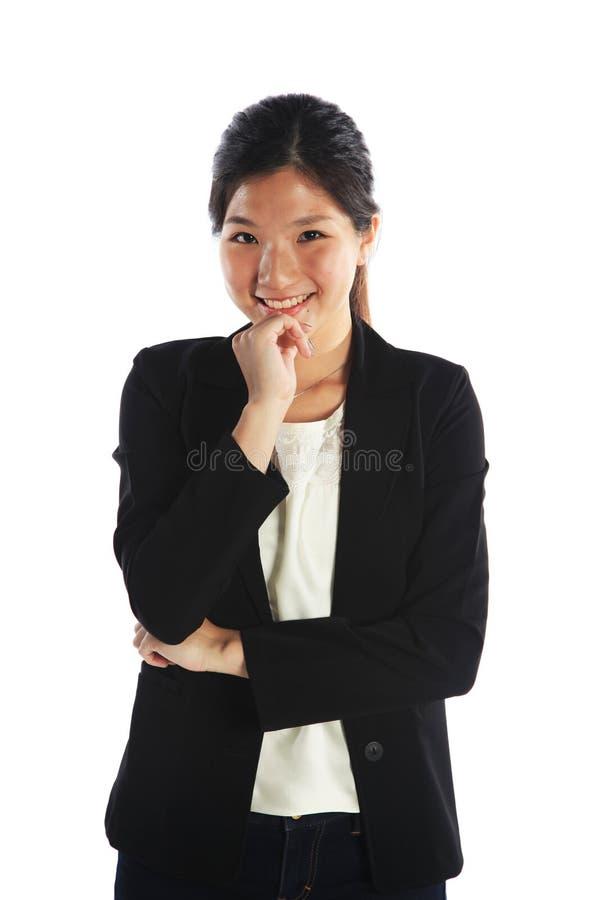 Donna di affari asiatica astuta fotografie stock libere da diritti