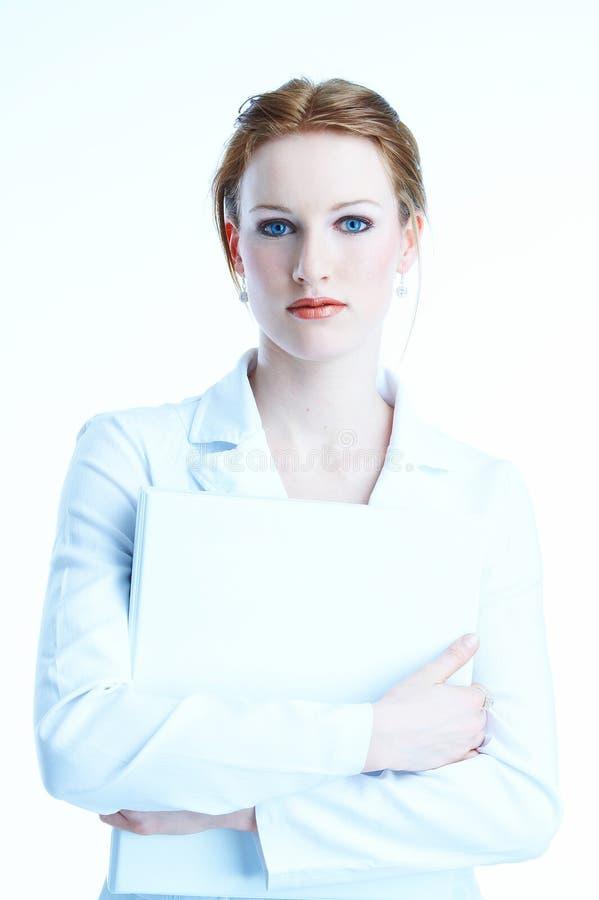 donna di affari bianco-vestita fotografia stock libera da diritti