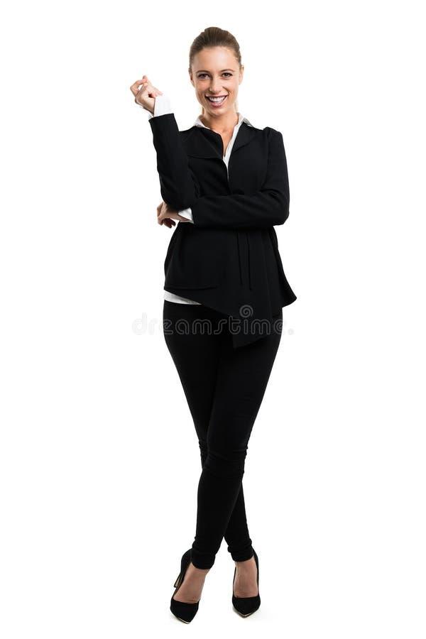 Donna di affari bionda attraente fotografie stock
