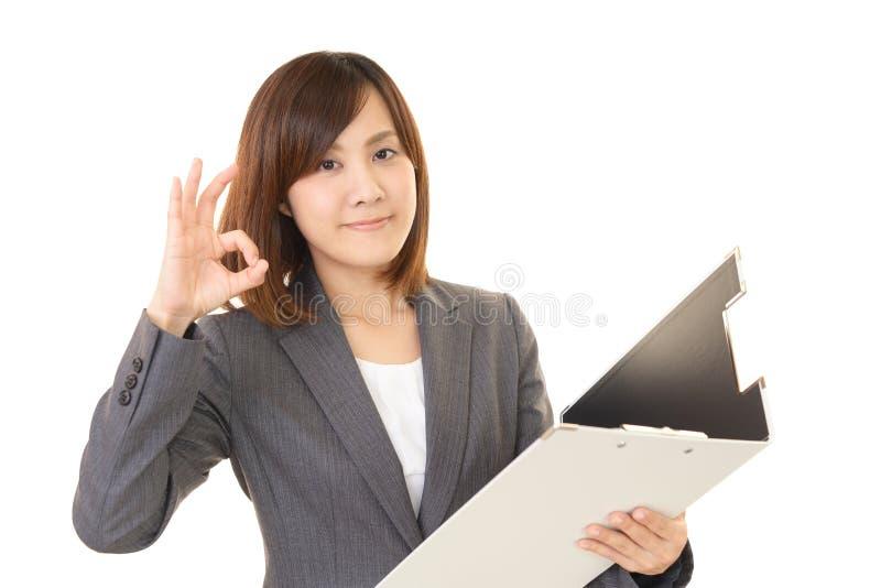 Download Donna Di Affari Che Gode Del Successo Fotografia Stock - Immagine di felice, azienda: 56882426