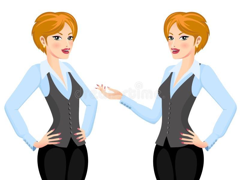 Donna di affari che presenta proposta illustrazione vettoriale