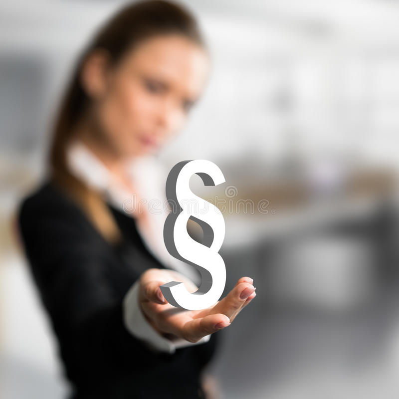 Donna di affari che presenta un paragrafo immagine stock libera da diritti