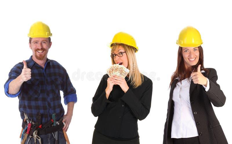 Donna di affari con contanti e collega immagini stock