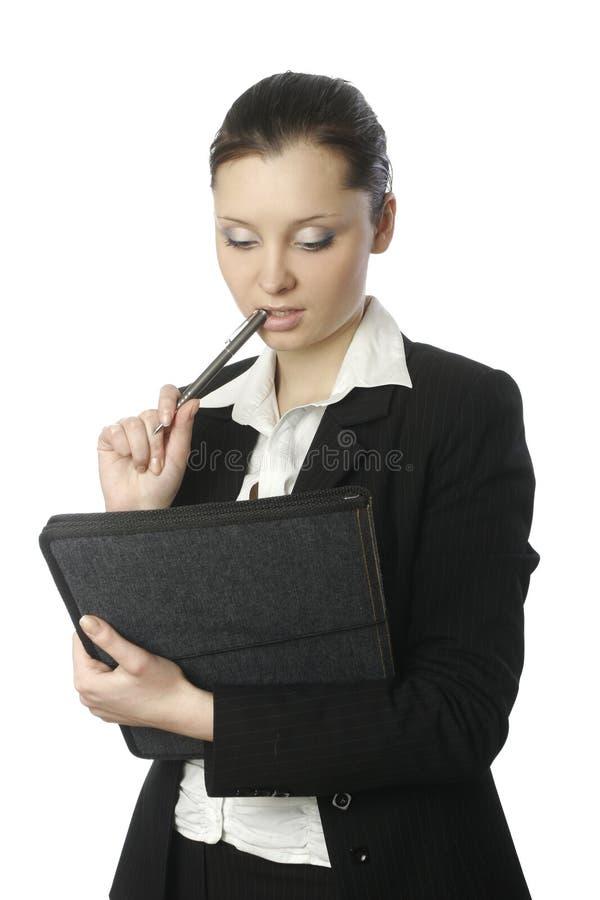 Donna di affari con i documenti 3 fotografie stock