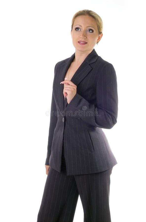 Donna di affari con l'idea fotografie stock libere da diritti