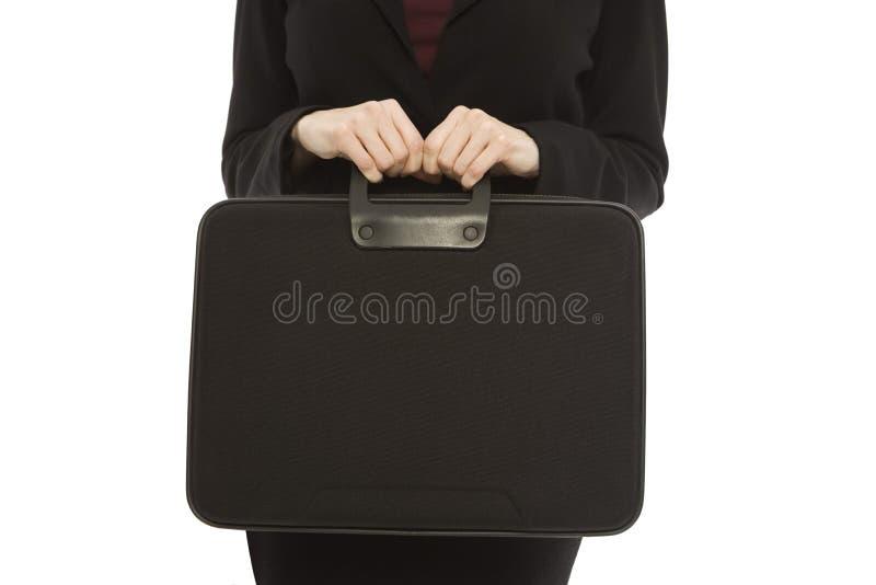 Donna di affari con la cartella fotografie stock