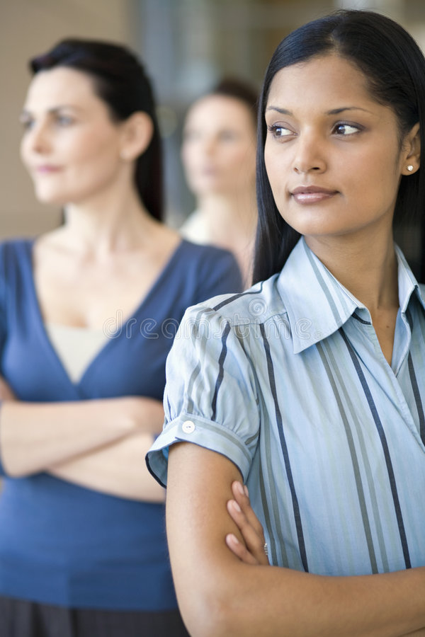 Download Donna Di Affari Con La Squadra Dietro Fotografia Stock - Immagine di businesswoman, cooperazione: 3883640