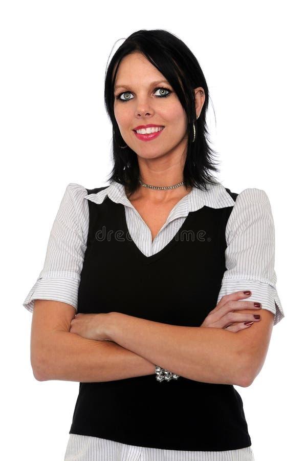 Donna di affari con le braccia attraversate fotografia stock libera da diritti