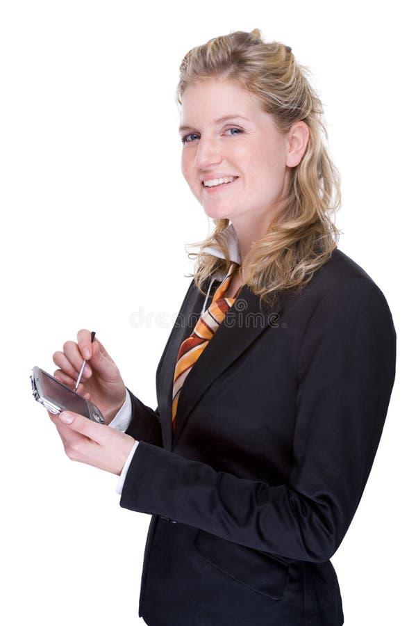 Donna di affari con PDA fotografia stock libera da diritti