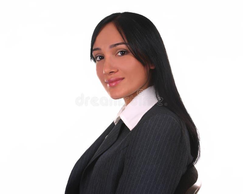 Donna di affari con uno sguardo caldo fotografia stock