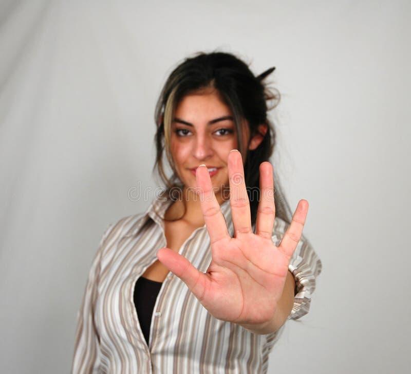 Donna Di Affari Counting-1 Fotografie Stock Libere da Diritti