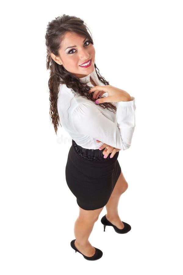 Donna di affari da sopra fotografia stock