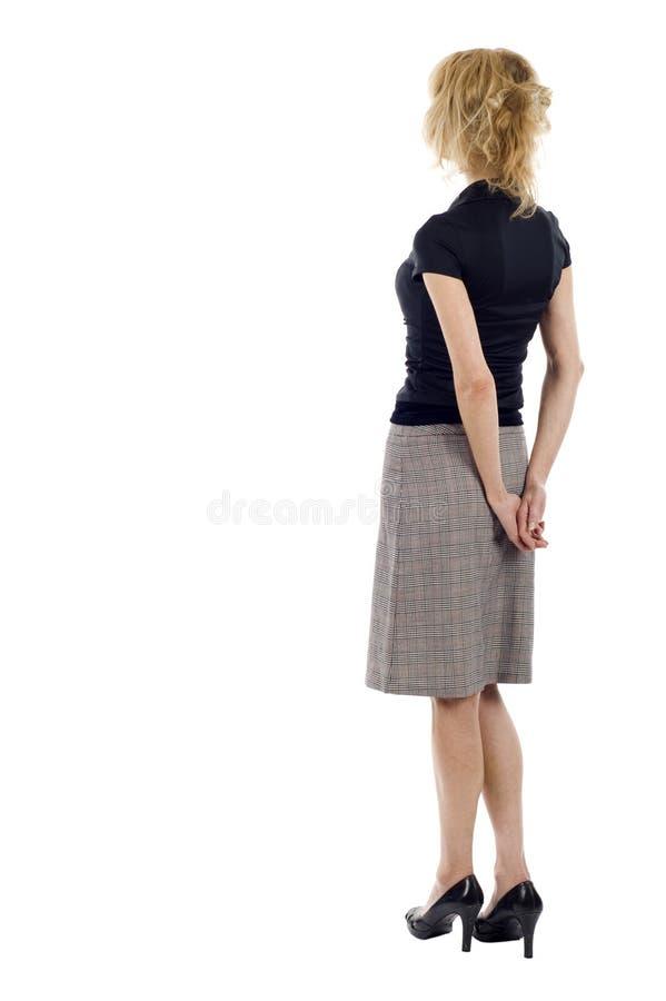 Donna di affari dalla parte posteriore immagini stock
