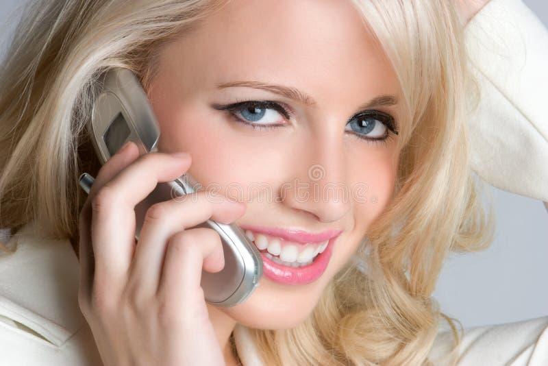 Donna di affari del telefono immagine stock libera da diritti