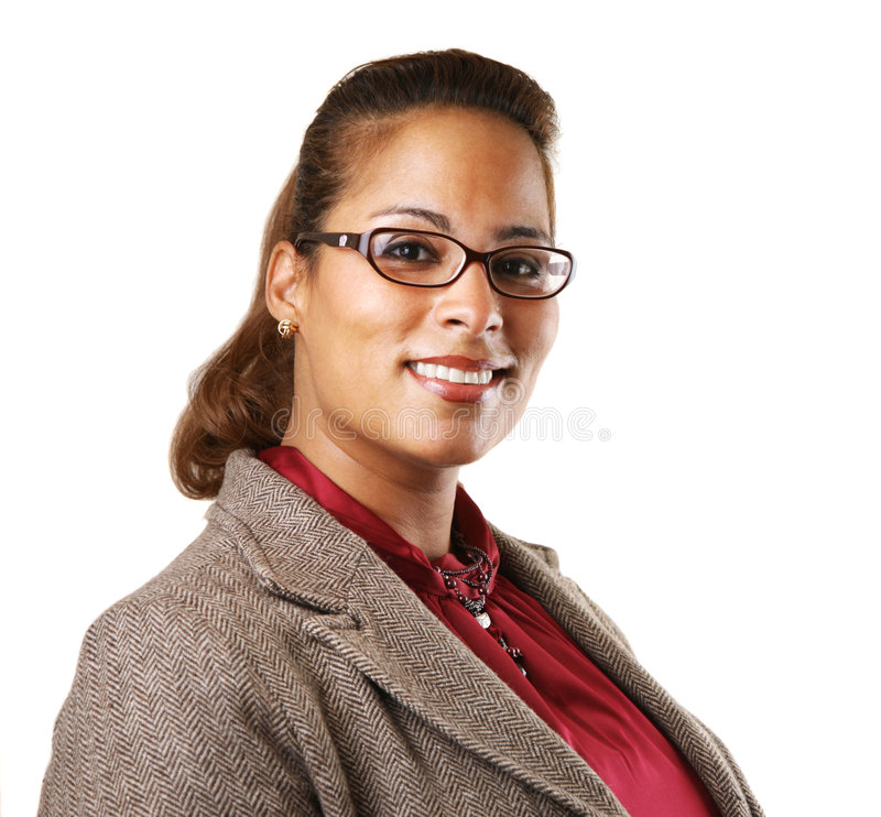 Donna di affari dell'afroamericano immagini stock