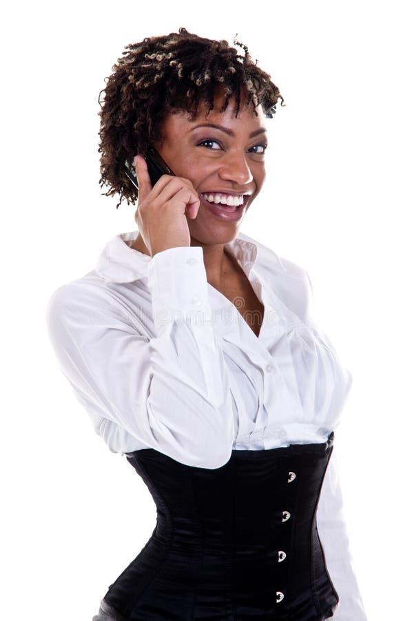 Donna di affari dell'afroamericano fotografia stock