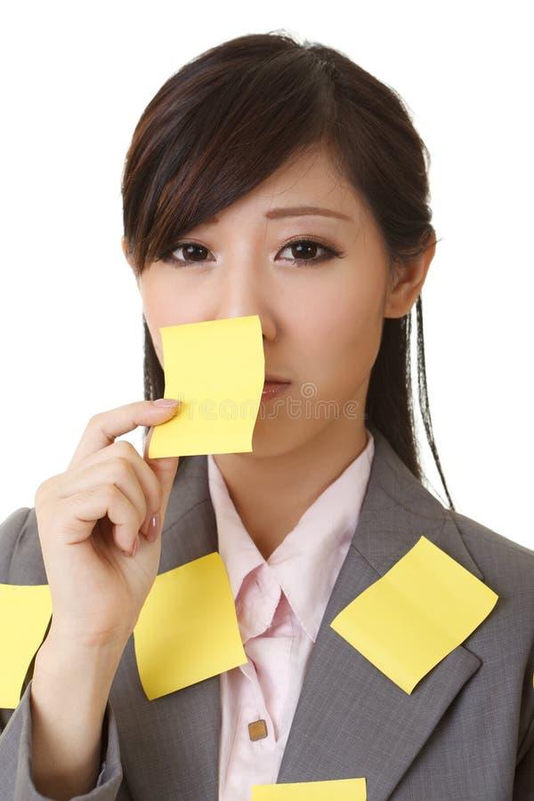 Donna di affari dell'appunto immagini stock libere da diritti
