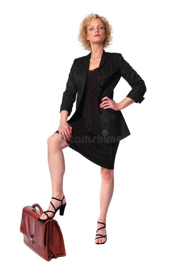 Donna di affari della sporgenza fotografie stock libere da diritti