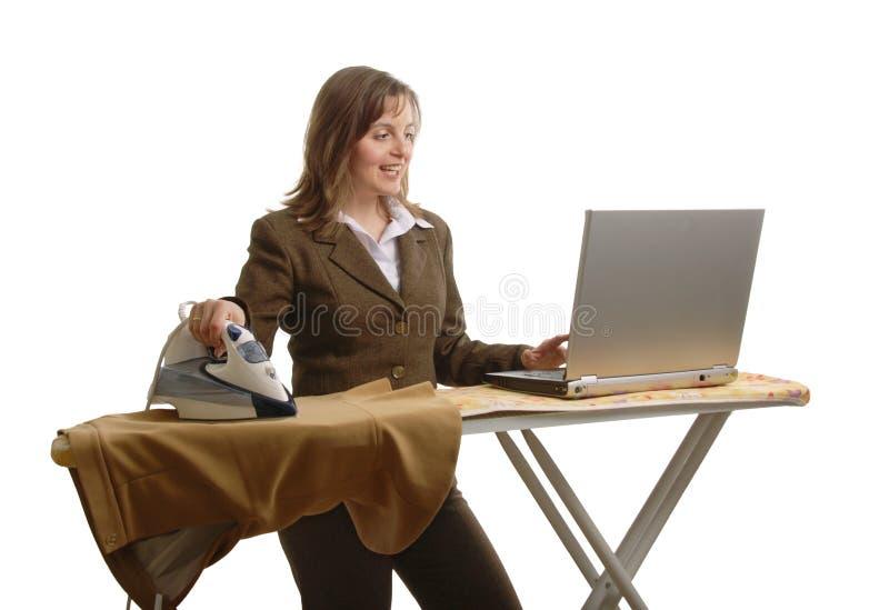 Donna di affari di Bussy immagine stock libera da diritti