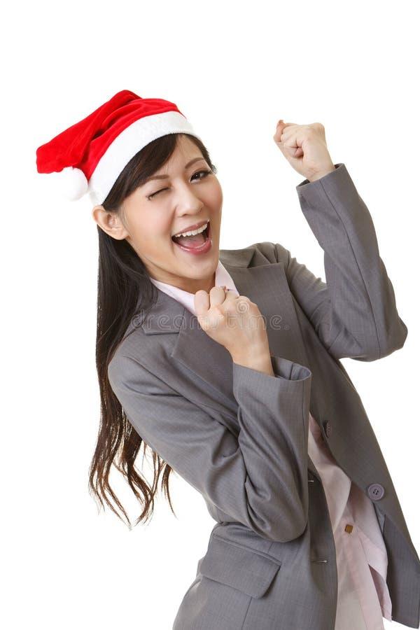 Donna di affari di Natale immagine stock libera da diritti