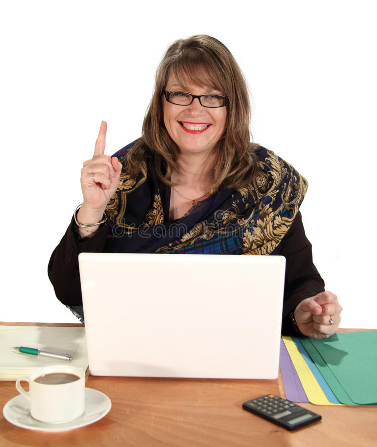 Donna di affari di numero uno immagine stock libera da diritti