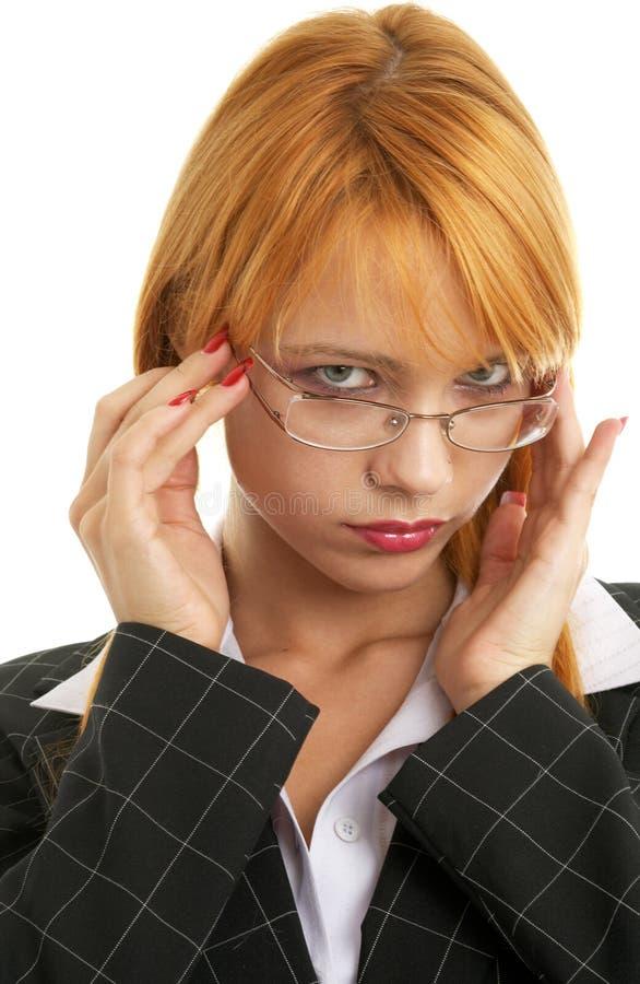 Donna di affari di Redhead immagini stock