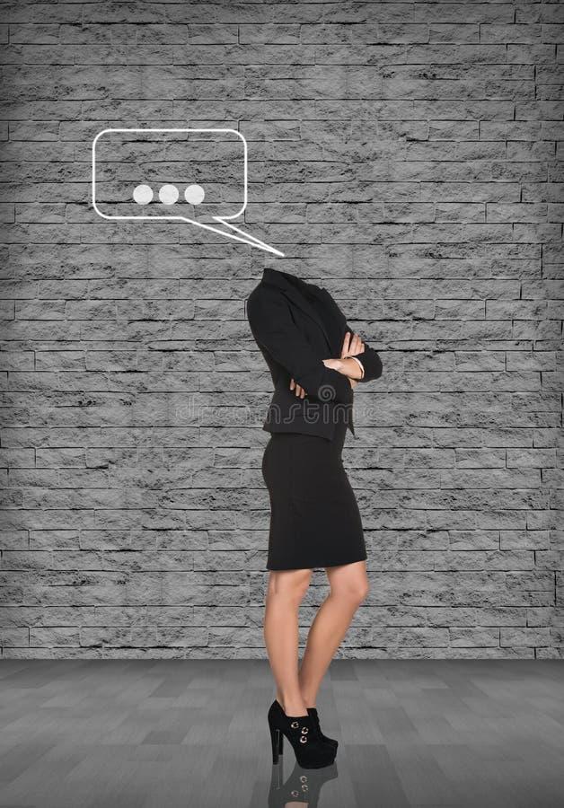 Donna di affari di sogno senza testa fotografia stock libera da diritti