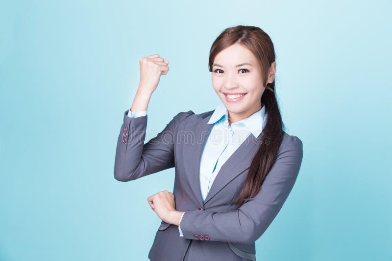 Donna di affari di sorriso fotografia stock