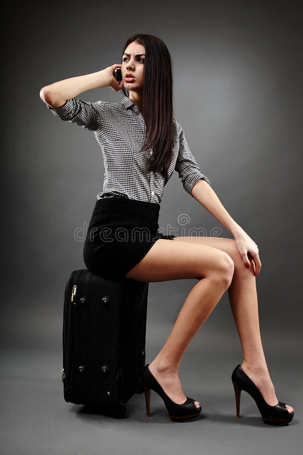 Donna di affari di viaggio immagini stock