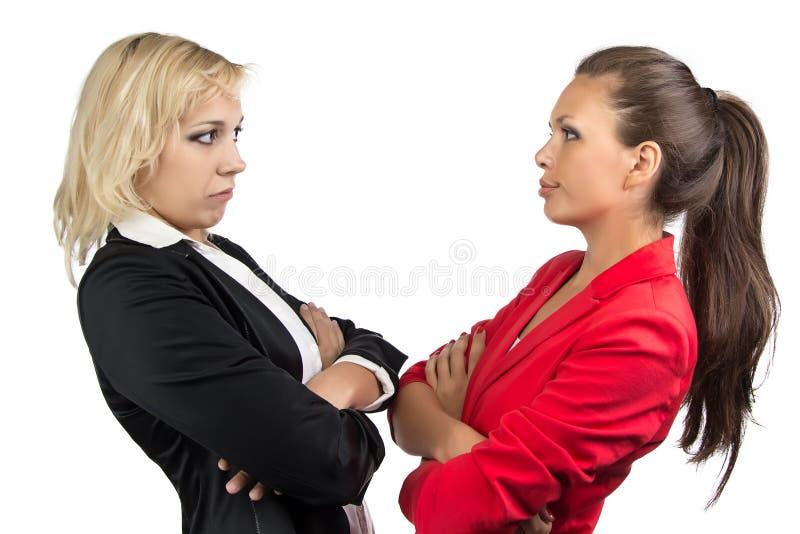 Donna di affari due che se esamina immagine stock libera da diritti