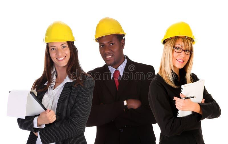 Donna di affari due ed uomo d'affari immagini stock libere da diritti