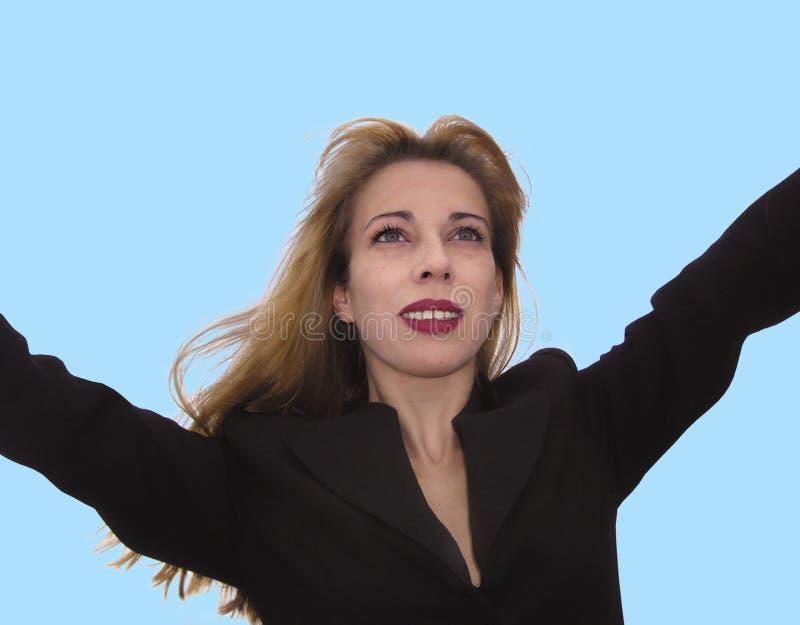 Donna di affari felice fotografie stock