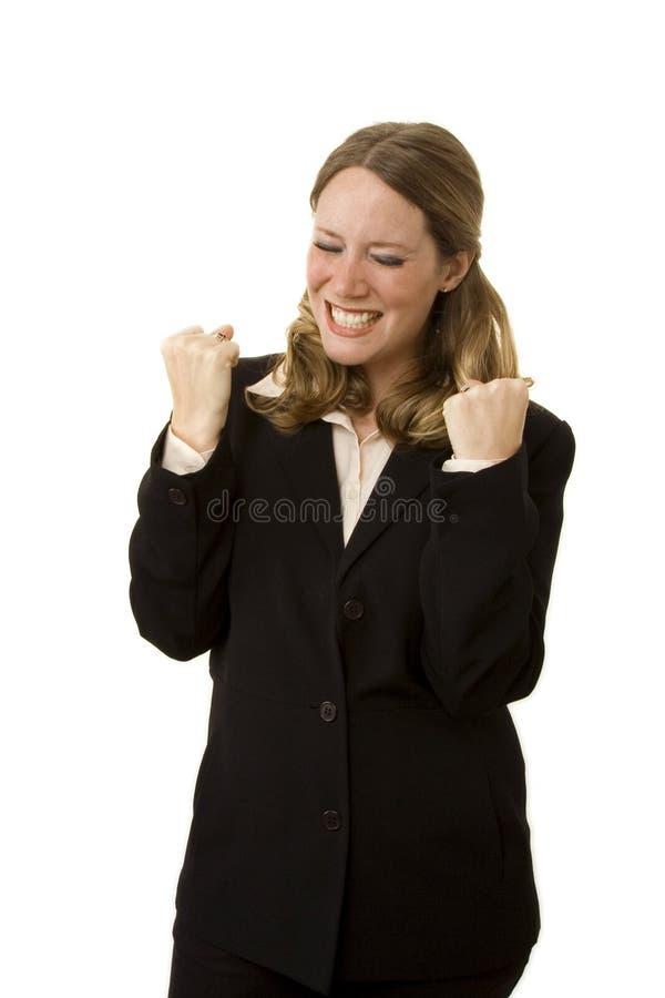Donna di affari felice fotografia stock