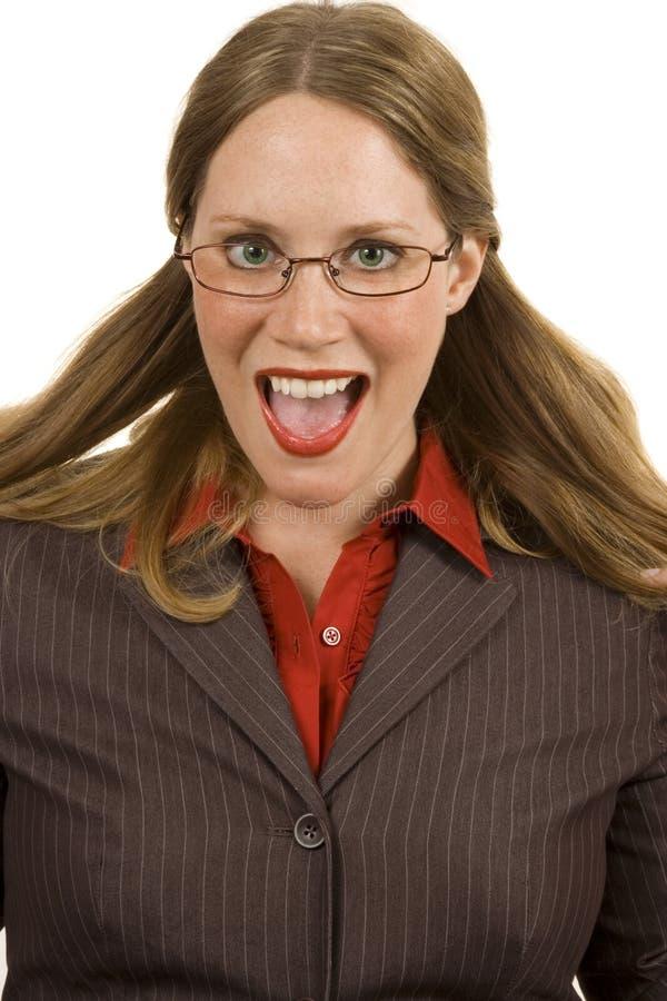 Donna di affari felice immagine stock libera da diritti