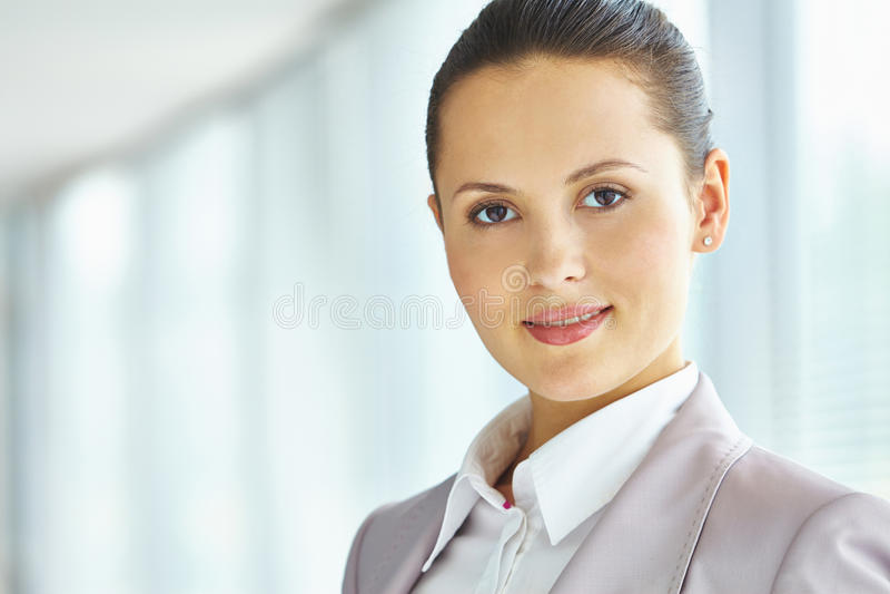 Donna di affari felice immagini stock