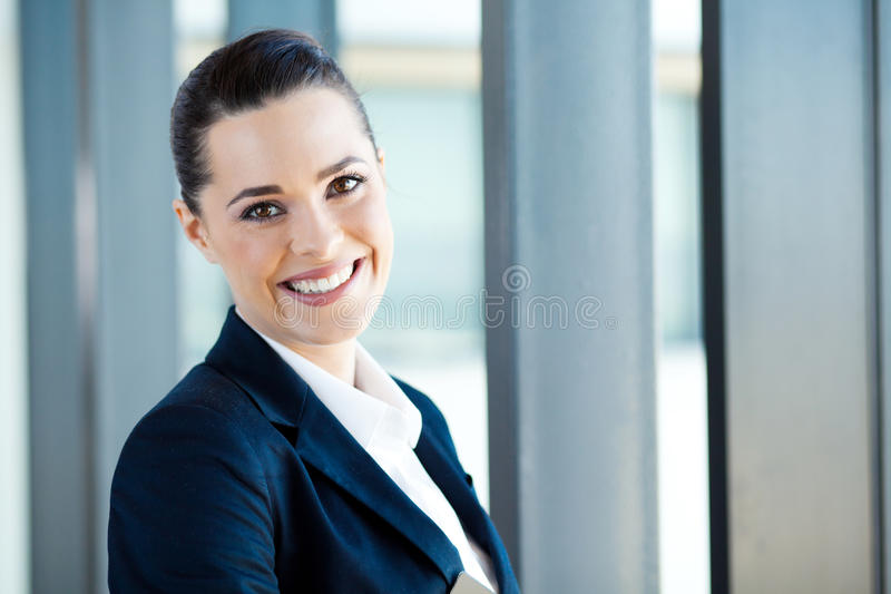 Donna di affari graziosa fotografia stock