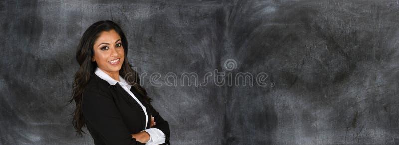 Donna di affari indiana sul lavoro fotografie stock